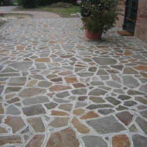Italiensk granit brudfliser til terrasse